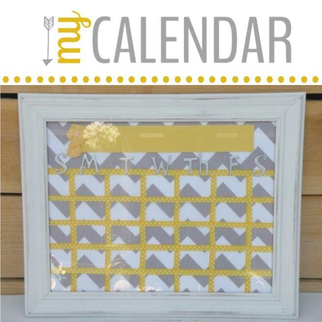 DIY picture frame calendar.