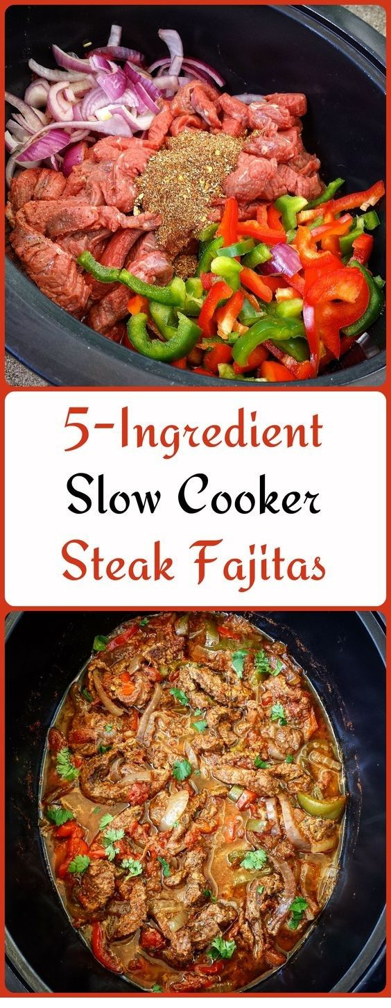 5-Zutaten Slow Cooker Steak Fajitas