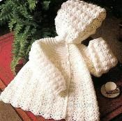 Vintage Crochet White Baby Sweater