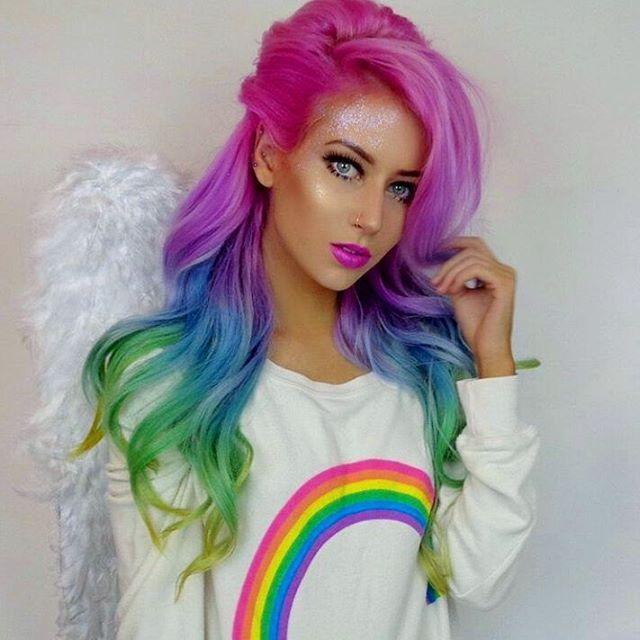rainbow radiant hairstyles