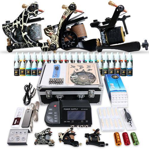 Professional Tattoo Kit 3 Top Machines 40 Color Inks Power [MGT-11(US 4.0)] - US$108.69 : Dragonhawk tattoo supplies, tattoo kits,tattoo machines for sale global form tattoodiy.com
