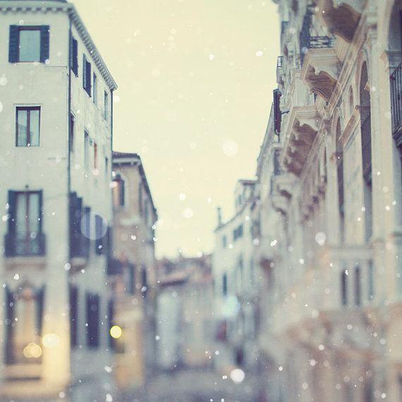 (via Venice photograph Winter White Snow by EyePoetryPhotography)