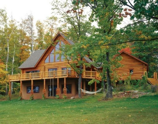 Imagine Snoozing In That Hammock. More Photos From Hiawatha Log Homes Of  This Custom Log