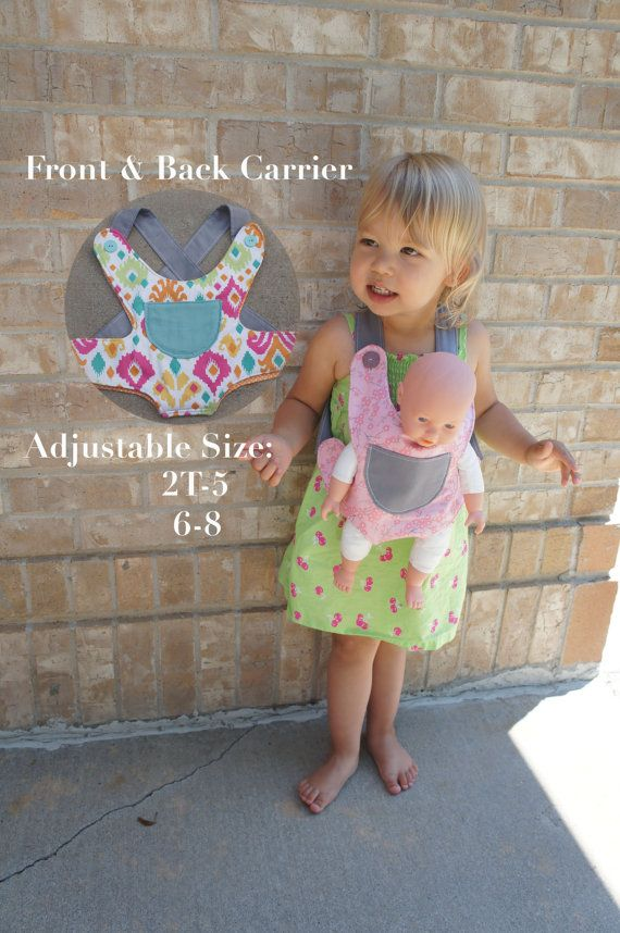 Unique Kids Gift Baby Doll Ergo Carrier Toddler Kid American Girl Big Sister Big Brother Gift Backpack