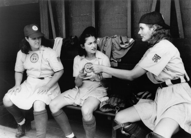 Still of Geena Davis, Madonna and Rosie O'Donnell in A League of Their Own