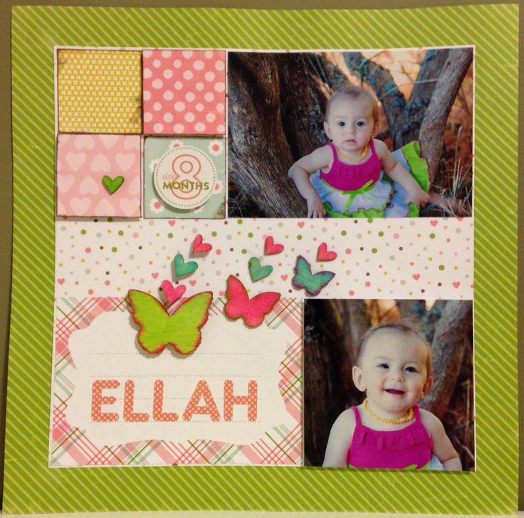 Paper pack by: @echoparkpaper   - Bundle of Joy   Studio Calico Wood Veneer hearts and butterflies