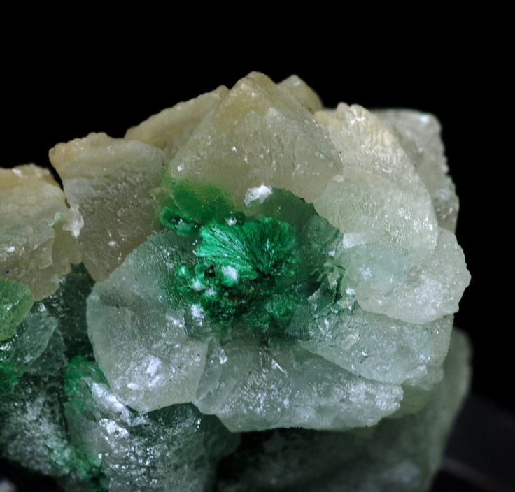 Calcite with Malachite inclusions from Russia