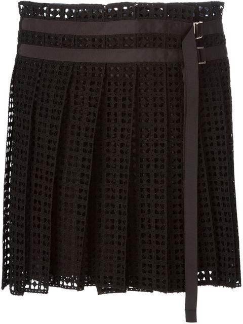 Sacai Lace Pleated Skirt - Leam - Farfetch.com