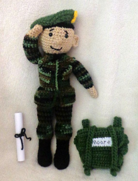 Knitting Patterns Toy Soldiers : CROCHET PATTERN Only - Army Amis - Boy & Girl Military ...