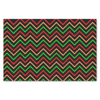 Trendy Chevron Pattern on Black Tissue Paper - patterns pattern special unique design gift idea diy