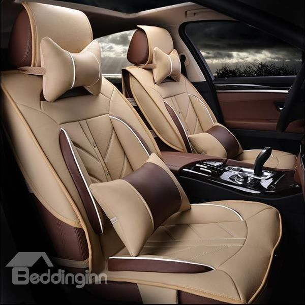 High Grade Charming Design PU Leatherette Material Universal Five Car Seat Covers