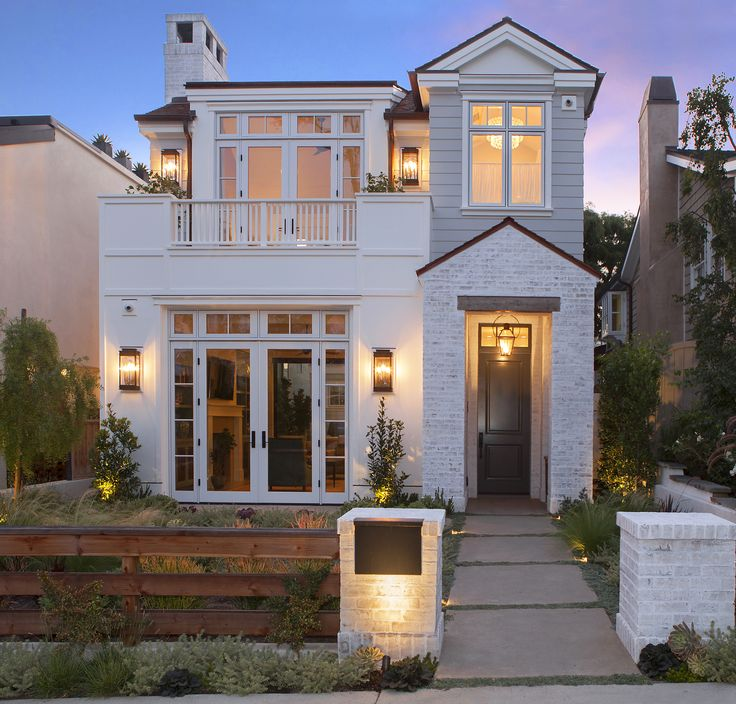 This Transitional Custom Home Brings The Curb Appeal With