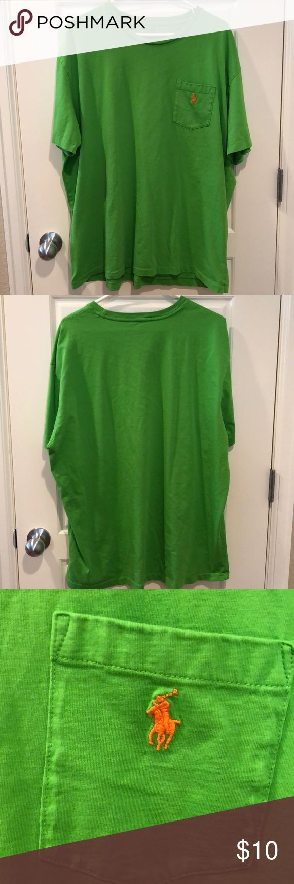 Men's Polo T-Shirt Like new. Neon green in color. Left chest pocket with orange embroidered Polo logo. Size XL Polo by Ralph Lauren Shirts Tees - Short Sleeve