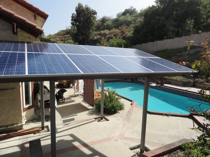Solar Panel Pergola Hmm Good Idea Since We Get Mass