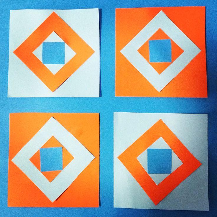 Giocare con le figure geometriche, le simmetrie e i colori complementari