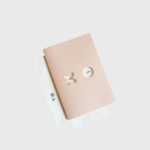 Pink leather gift card. fine art paper. XO collection by Form Maker. white…