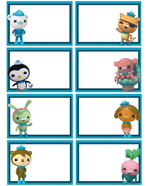 1000+ images about Octonauts Party on Pinterest | Birthdays, Party favors and Cupcake toppers