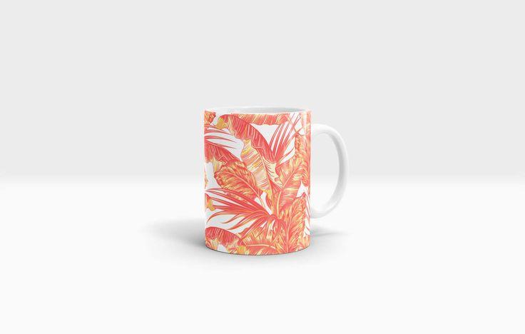 Palm Mug. 11oz Ceramic Mug. by NJsBoutiqueCo on Etsy
