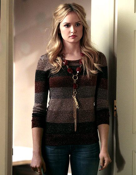In Season 5 Ivy Dickens (Kaylee DeFer) looked chic in a sparkly striped sweater and dark denim.