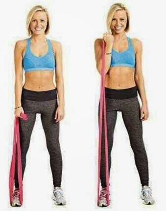 Fitness Without The Gym.: Arm Exercises with Resistance Bands.