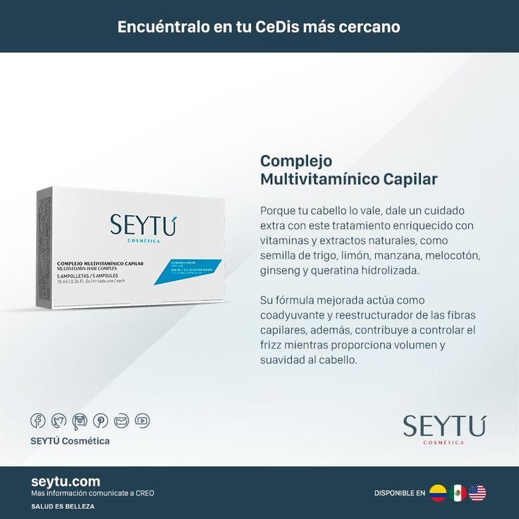 Porque tu cabello lo vale, dale un cuidado extra con este tratamiento enriquecido con vitaminas y extractos naturales #Seytú