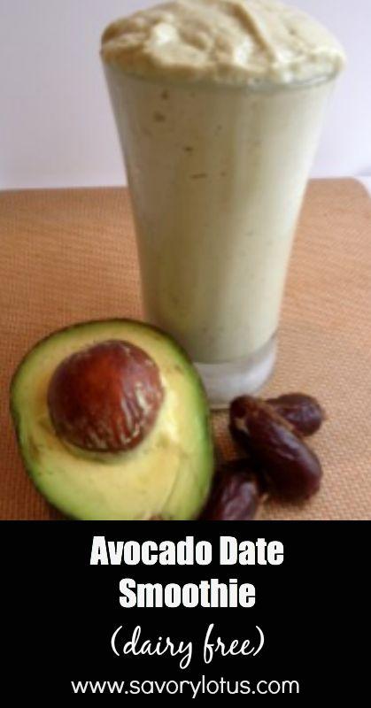AIP/Paleo Avocado Date Smoothie (sub coconut milk instead of almond)