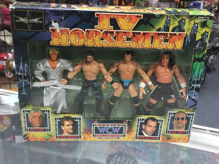 "Toybiz WCW IV Horseman Ric Flair Chris Benoit Dean Malenko Steve ""Mongo"""
