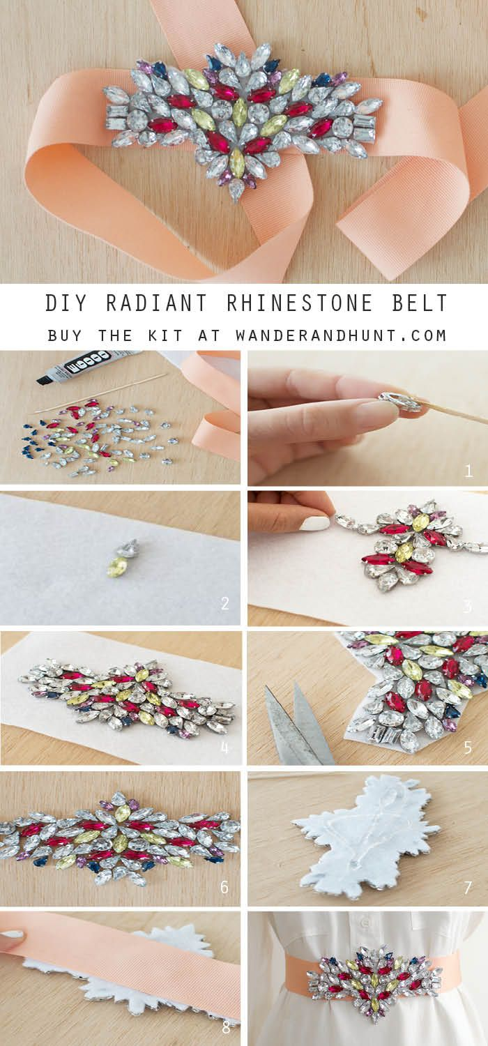 Purchase the kit here. Supplies: Cotton ribbon Felt Assorted rhinestones E6000 glue Skewer How to: 1. Put a...