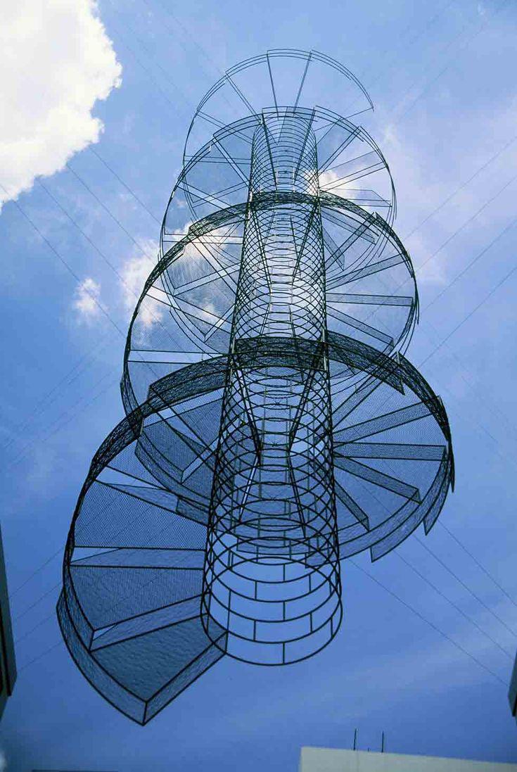 Neil Dawson's Suspended Sculptures: Vanishing Stairs