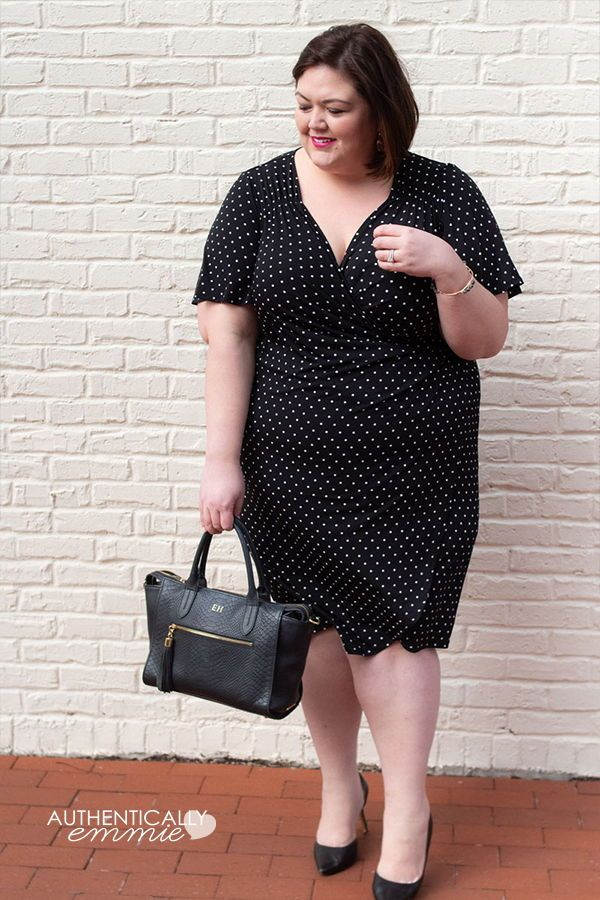 ab015d56383 Polka dots and wrap dresses are always in style! See more from  plussize  fashion