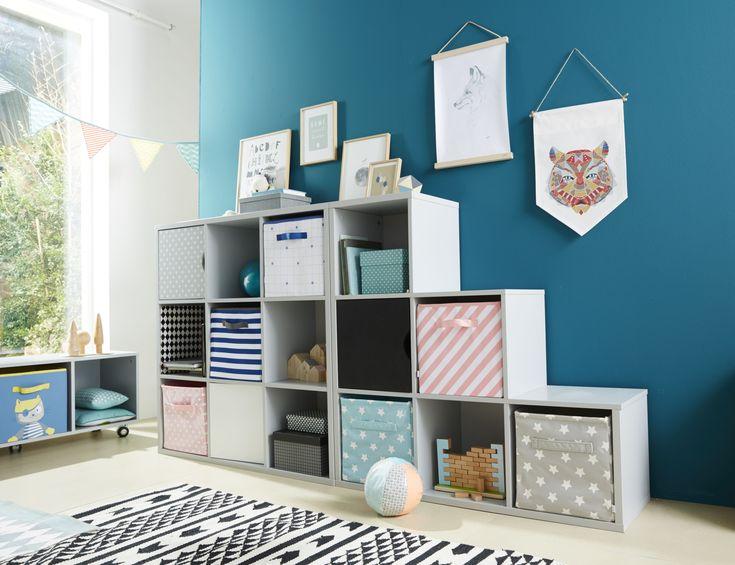 VERTBAUDET -  Facilitez leur le rangement en aménageant ce meuble à cases adapté à la taille des enfants ! livres et jeux y trouveront leur place.