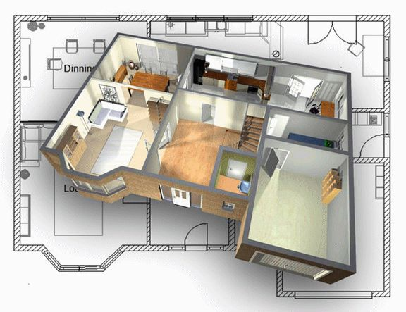 Home Design, Awesome Image 3d Plan For Simple Home Floor Plans And Some  Pictures Or