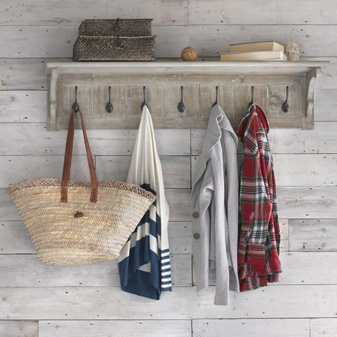 BONNIE WALL SHELF WITH HOOKS Arguably Clyde's better half, Bonnie is a sassy seven-hooked shelf that's as practical as she is pretty.