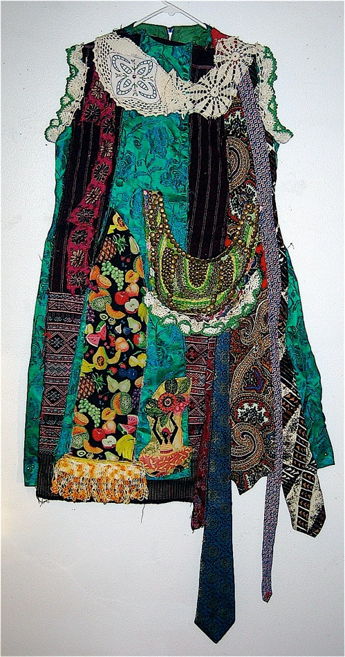Wearable ART Upcycled & Altered  Vintage 1960s  NECKTIES DRESS Sz M. $91.00, via Etsy.