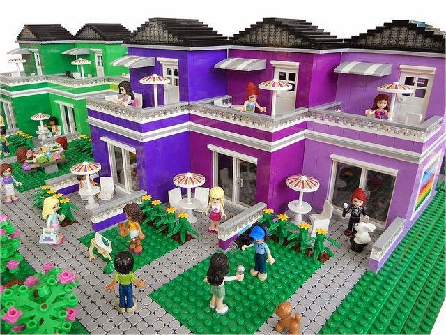 lego friends lovely hotel instructions