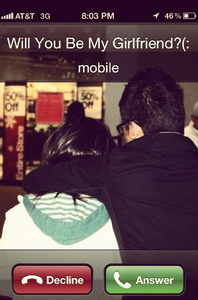 He took her phone while she wasn't looking and changed his contact info to this.. she answered! How cute!!