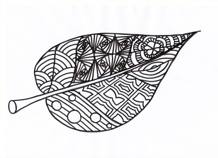 Les 25 meilleures id es de la cat gorie coloriage automne sur pinterest coloriages automne - Feuille automne dessin ...