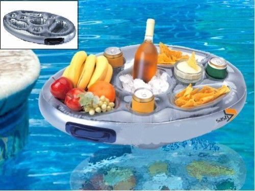 Floating Pool Spa Drinks Snacks Tray Outdoor Party Inflatable Bar Cooler Hot Tub #Sash