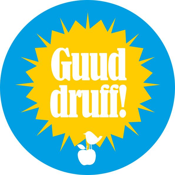 """Button """"Guud druff!"""" - Meine Heimat Hessen von MainSpatzen auf DaWanda.com"""