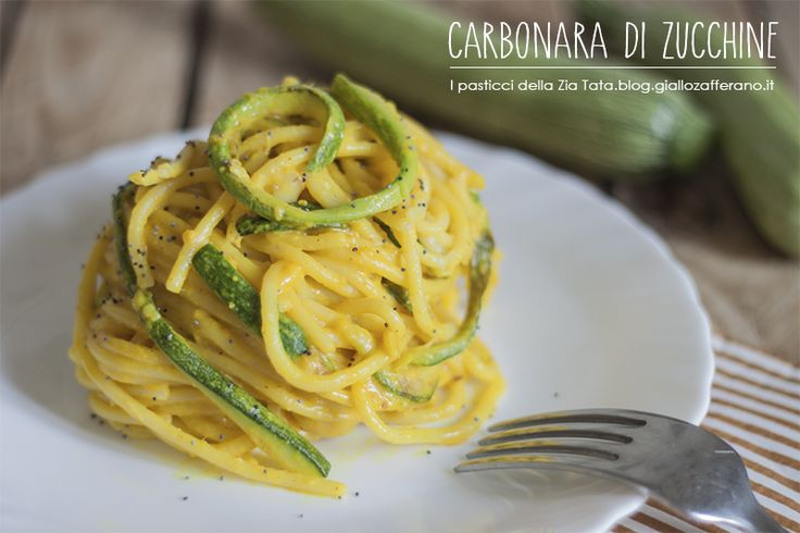 Carbonara di zucchine: I swear I invented this years ago ;) Great (healthier) vegetarian alternative for Carbonara lovers.