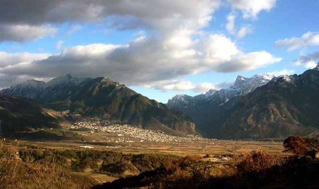 The town of Konitsa, in Epirus, Greece.
