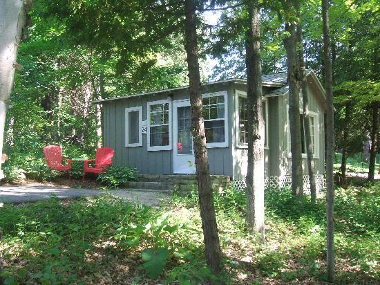 Vintage cottages at Little Sister Resort. Sister Bay