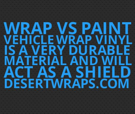 Wrap vs Paint tip #3.. Vehicle wrap vinyl will protect your car from sun damage, abrasion and stone chips. Give us a call and we'll show you samples. 760-395-3600 http://www.DesertWraps.com #PalmDesert #InlandEmpire #SanDiego