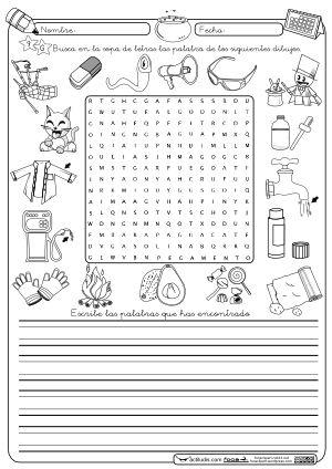 Sopa de letras G Montessori