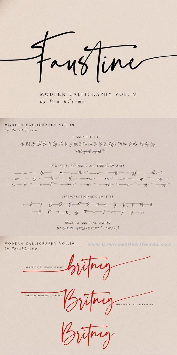 Faustine Modern Script текст тату надписи и логотипы
