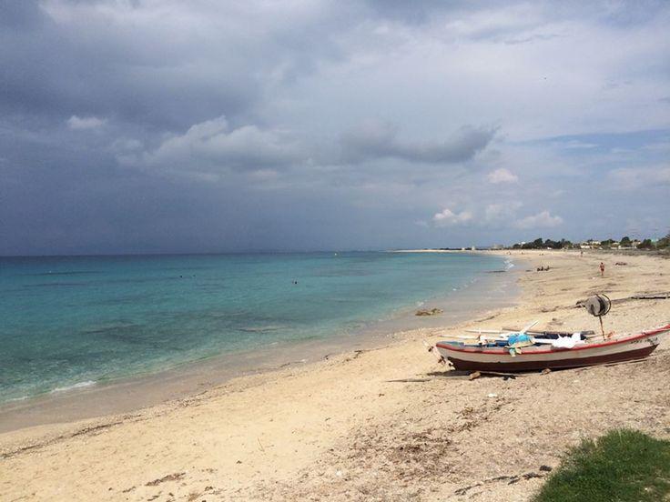 The cloudy Ai Giannis beach yesterday morning #lefkada #lefkas #beachlife #island #lefkadaisland #sky #october #sand #sea #scenery #boat #colours #relax #travel #beauty #visit