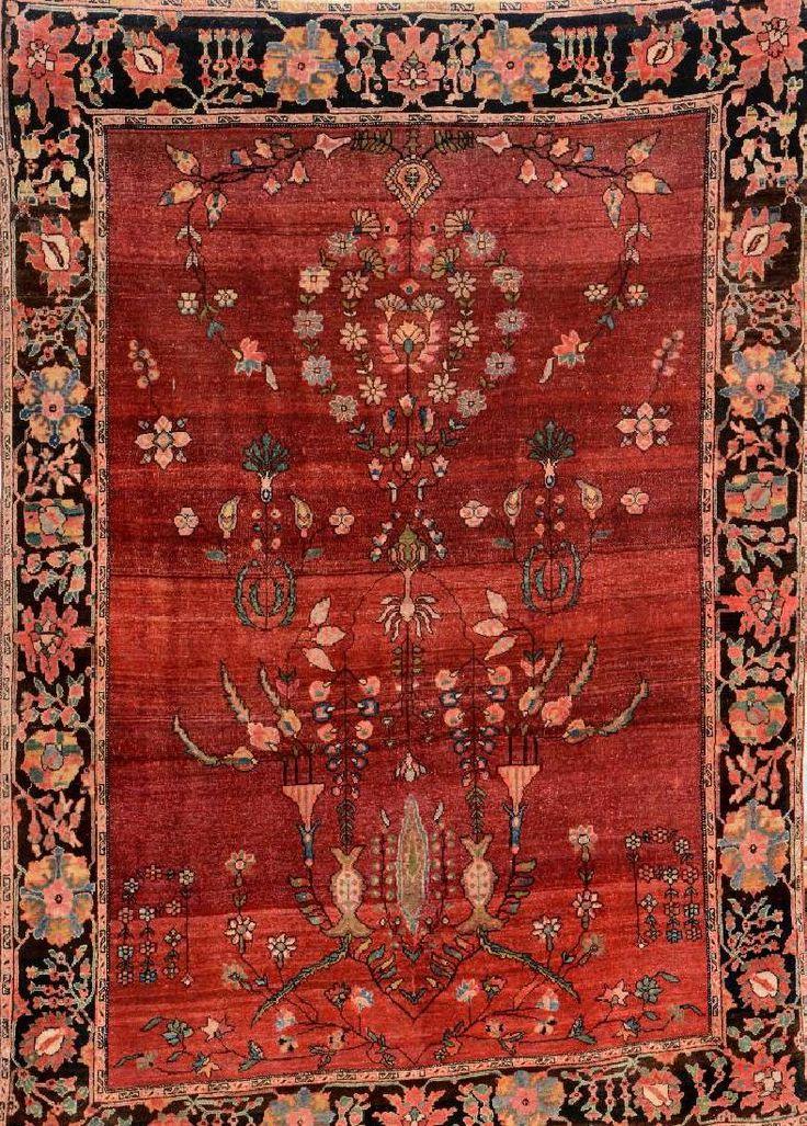 US Farahan,, US Farahan, Persia, late 19th century, wool/cotton, approx. 146 x 105 cm