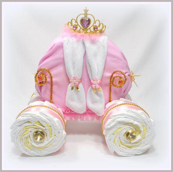 Carruaje de princesa  princesa pastel de pañal  único bebé