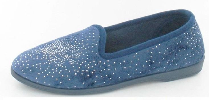 Ladies Unbranded Navy Slippers X2027