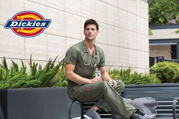 Dickies Mens scrubs, Unisex Lab Coat, Men's Drawstring Cargo Pant, Whites & Labs www.escrubz.com